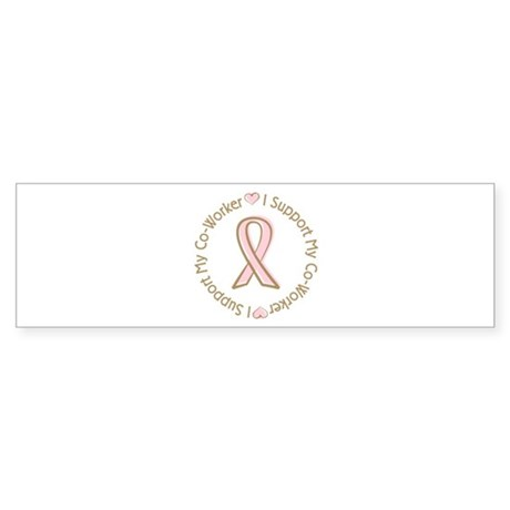 Breast Cancer Support Co-worker Sticker (Bumper 10