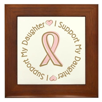 Breast Cancer Support Daughter Framed Tile