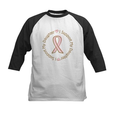 Breast Cancer Support Daughter Kids Baseball Jerse