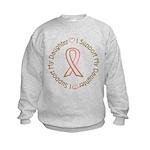 Breast Cancer Support Daughter Kids Sweatshirt