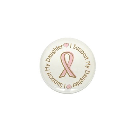 Breast Cancer Support Daughter Mini Button (100 pa