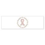 Breast Cancer Support Daughter Sticker (Bumper 10