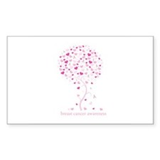 Breast Cancer Awareness Pink Ribbon Tree Decal
