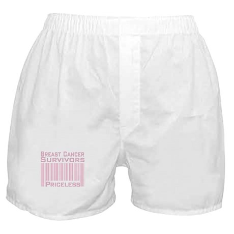 Breast Cancer Survivors Priceless Boxer Shorts