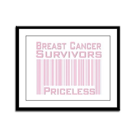 Breast Cancer Survivors Priceless Framed Panel Pri