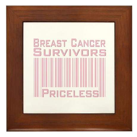 Breast Cancer Survivors Priceless Framed Tile