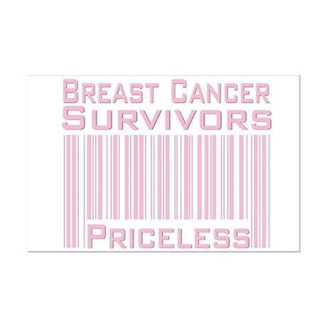 Breast Cancer Survivors Priceless Mini Poster Prin
