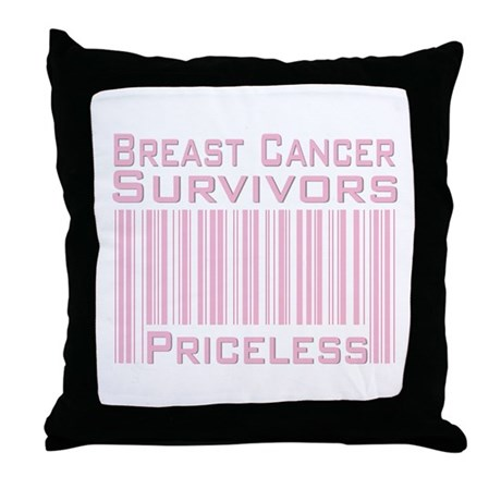 Breast Cancer Survivors Priceless Throw Pillow
