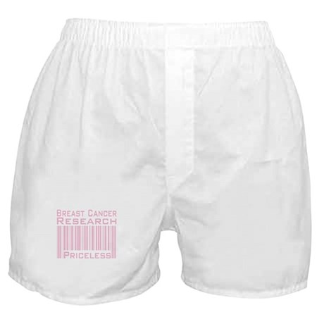 Breast Cancer Research Priceless Boxer Shorts