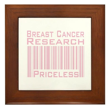 Breast Cancer Research Priceless Framed Tile
