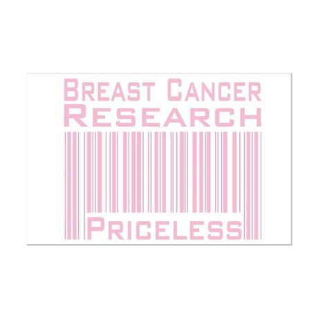 Breast Cancer Research Priceless Mini Poster Print