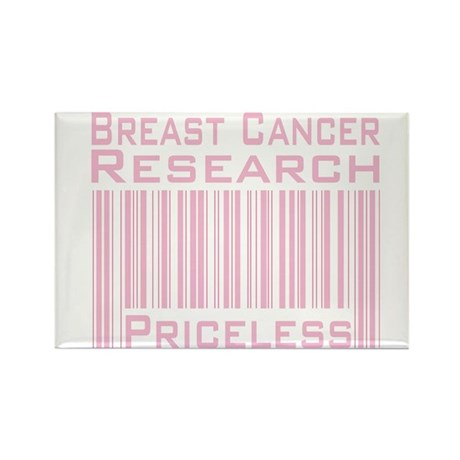 Breast Cancer Research Priceless Rectangle Magnet