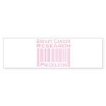 Breast Cancer Research Priceless Sticker (Bumper 1