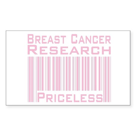 Breast Cancer Research Priceless Sticker (Rectangl