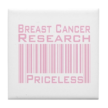 Breast Cancer Research Priceless Tile Coaster