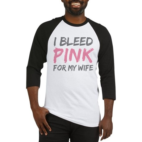 Pink Breast Cancer Wife Baseball Jersey