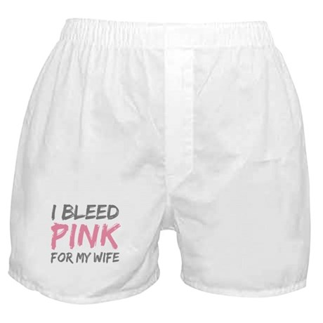 Pink Breast Cancer Wife Boxer Shorts