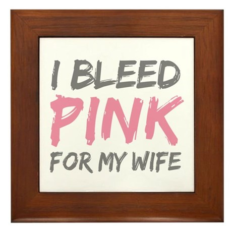 Pink Breast Cancer Wife Framed Tile