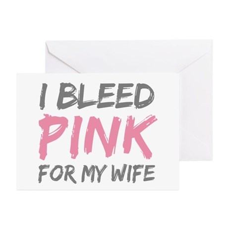Pink Breast Cancer Wife Greeting Cards (Pk of 20)