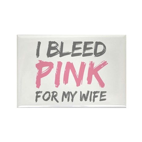 Pink Breast Cancer Wife Rectangle Magnet