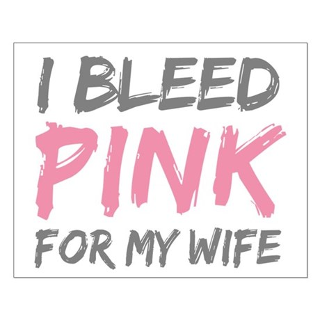 Pink Breast Cancer Wife Small Poster