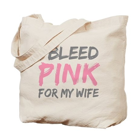 Pink Breast Cancer Wife Tote Bag