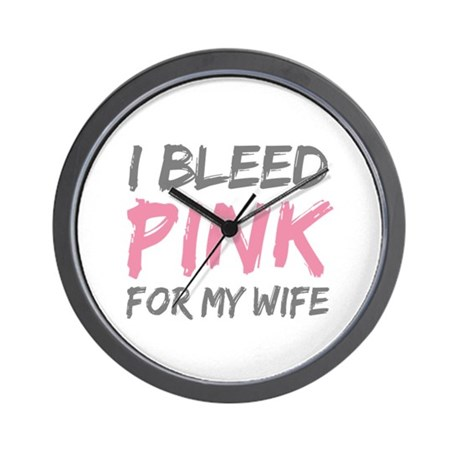 Pink Breast Cancer Wife Wall Clock