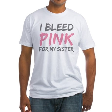 Pink Breast Cancer Sister Fitted T-Shirt