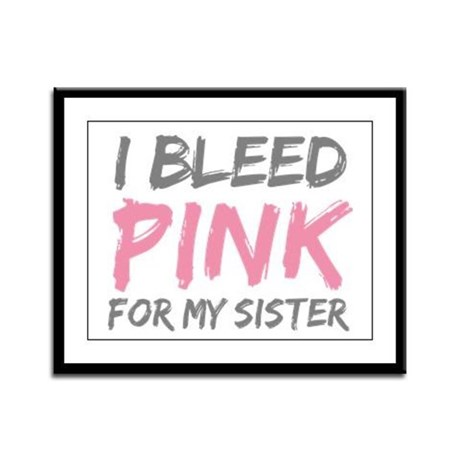 Pink Breast Cancer Sister Framed Panel Print