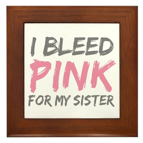 Pink Breast Cancer Sister Framed Tile