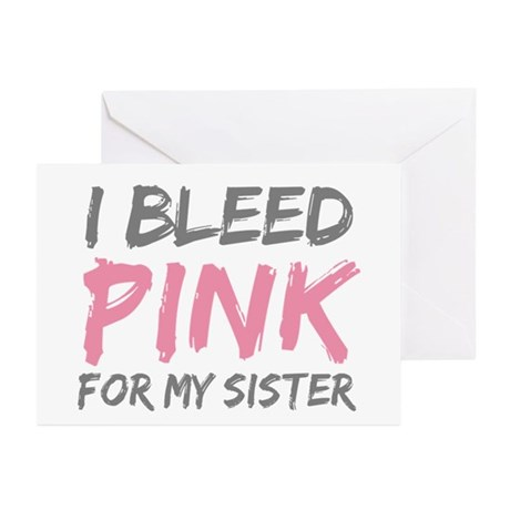 Pink Breast Cancer Sister Greeting Cards (Pk of 10