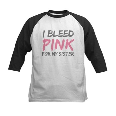Pink Breast Cancer Sister Kids Baseball Jersey