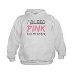Pink Breast Cancer Sister Kids Hoodie