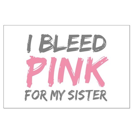 Pink Breast Cancer Sister Large Poster