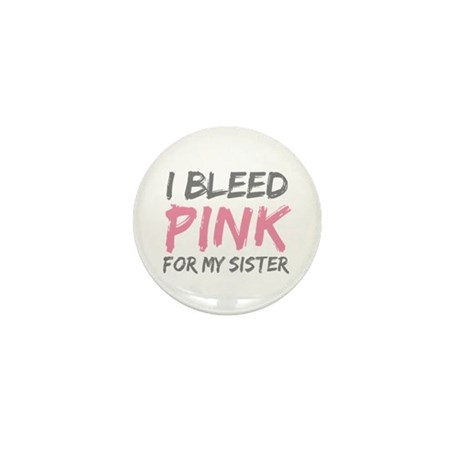 Pink Breast Cancer Sister Mini Button