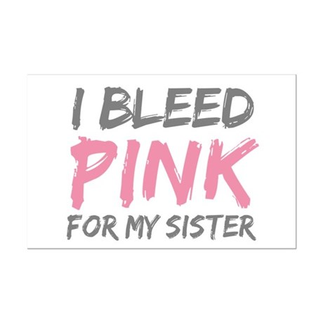 Pink Breast Cancer Sister Mini Poster Print