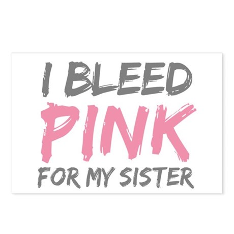 Pink Breast Cancer Sister Postcards (Package of 8)
