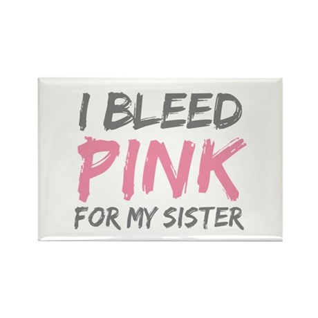 Pink Breast Cancer Sister Rectangle Magnet
