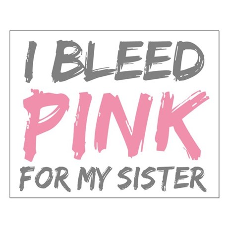 Pink Breast Cancer Sister Small Poster
