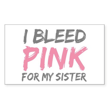 Pink Breast Cancer Sister Rectangle Sticker