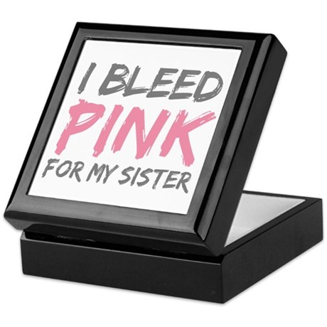 Pink Breast Cancer Sister Keepsake Box