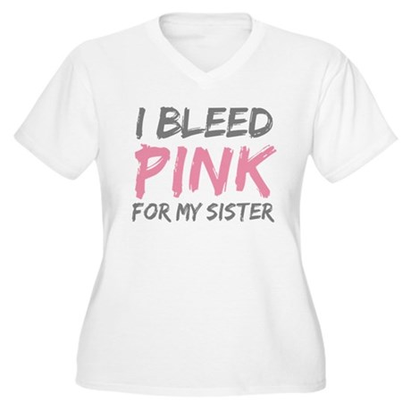 Pink Breast Cancer Sister Women's Plus Size V-Neck