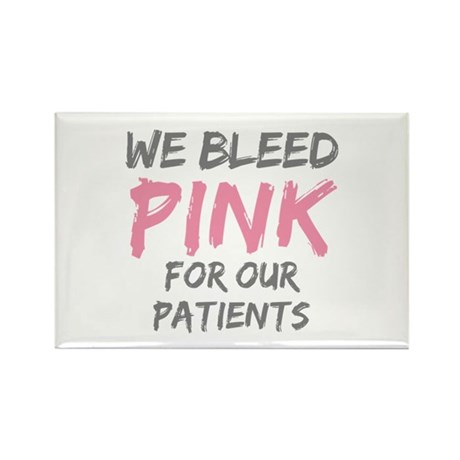 Pink Breast Cancer Patient Rectangle Magnet (100 p