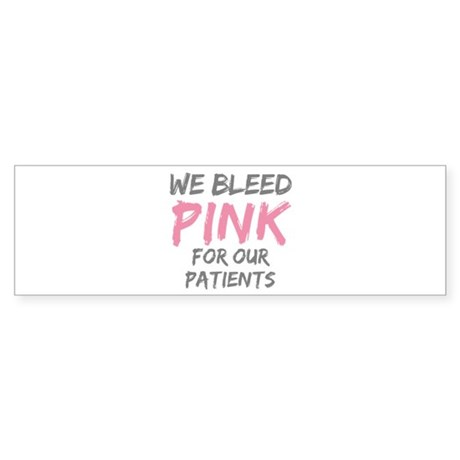 Pink Breast Cancer Patient Bumper Sticker
