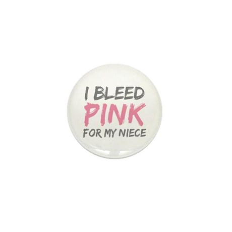 I Bleed Pink Breast Cancer Ni Mini Button (10 pack