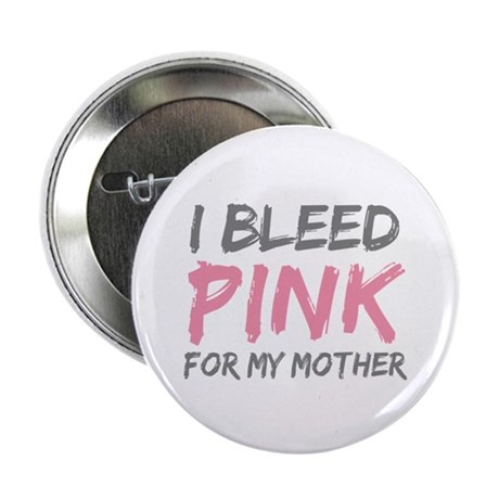 Pink Breast Cancer Mother Mom Button