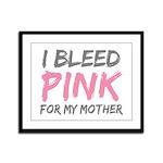 Pink Breast Cancer Mother Mom Framed Panel Print