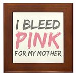 Pink Breast Cancer Mother Mom Framed Tile