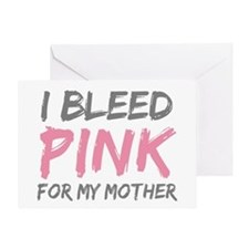 Pink Breast Cancer Mother Mom Greeting Card