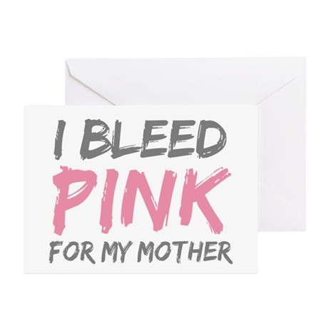 Pink Breast Cancer Mother Mom Greeting Cards (Pk o